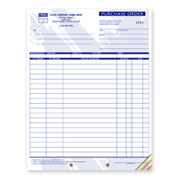 Purchase Order, Blue Design