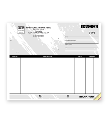 Unlined Compact Invoice, Black Design