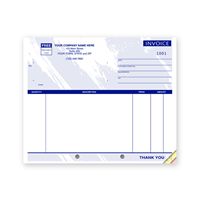Unlined Compact Invoice, Blue Design